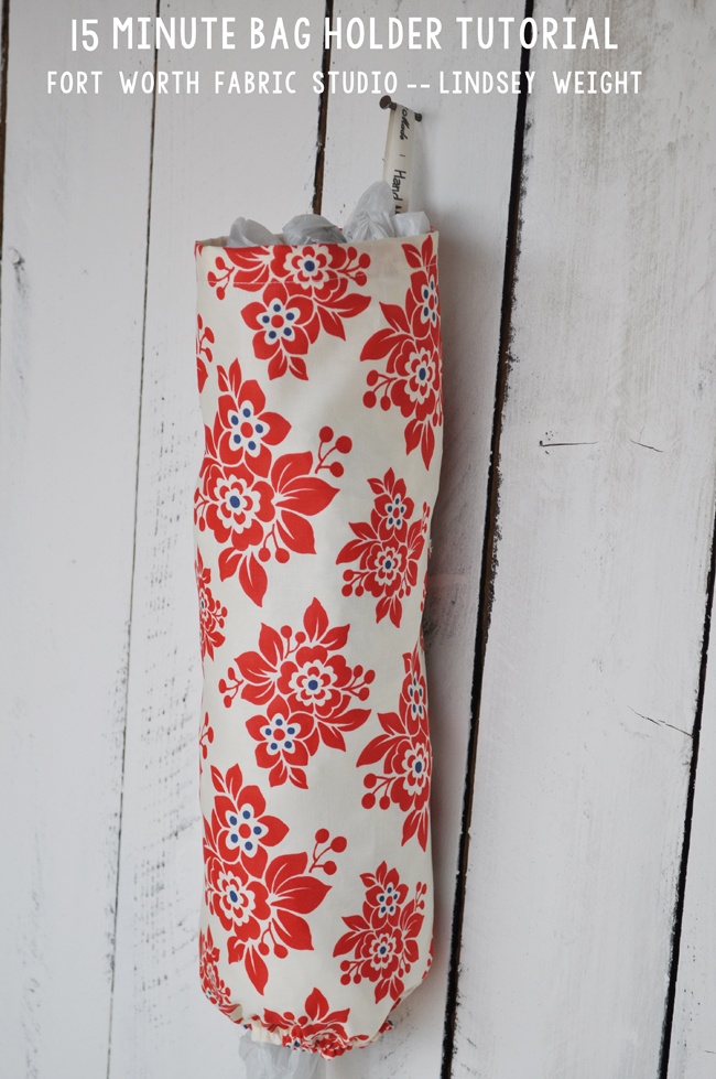 Fort Worth Fabric Studio 15 Minute Grocery Bag Holder