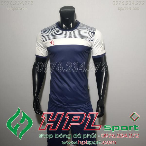 Áo bóng đá không logo TL HML Riyad màu tim than