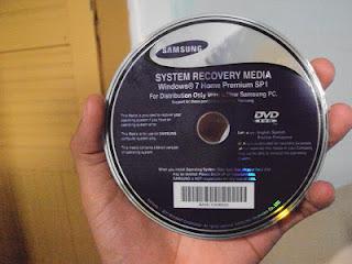 DVD de recuperação do notebook samsung 700z