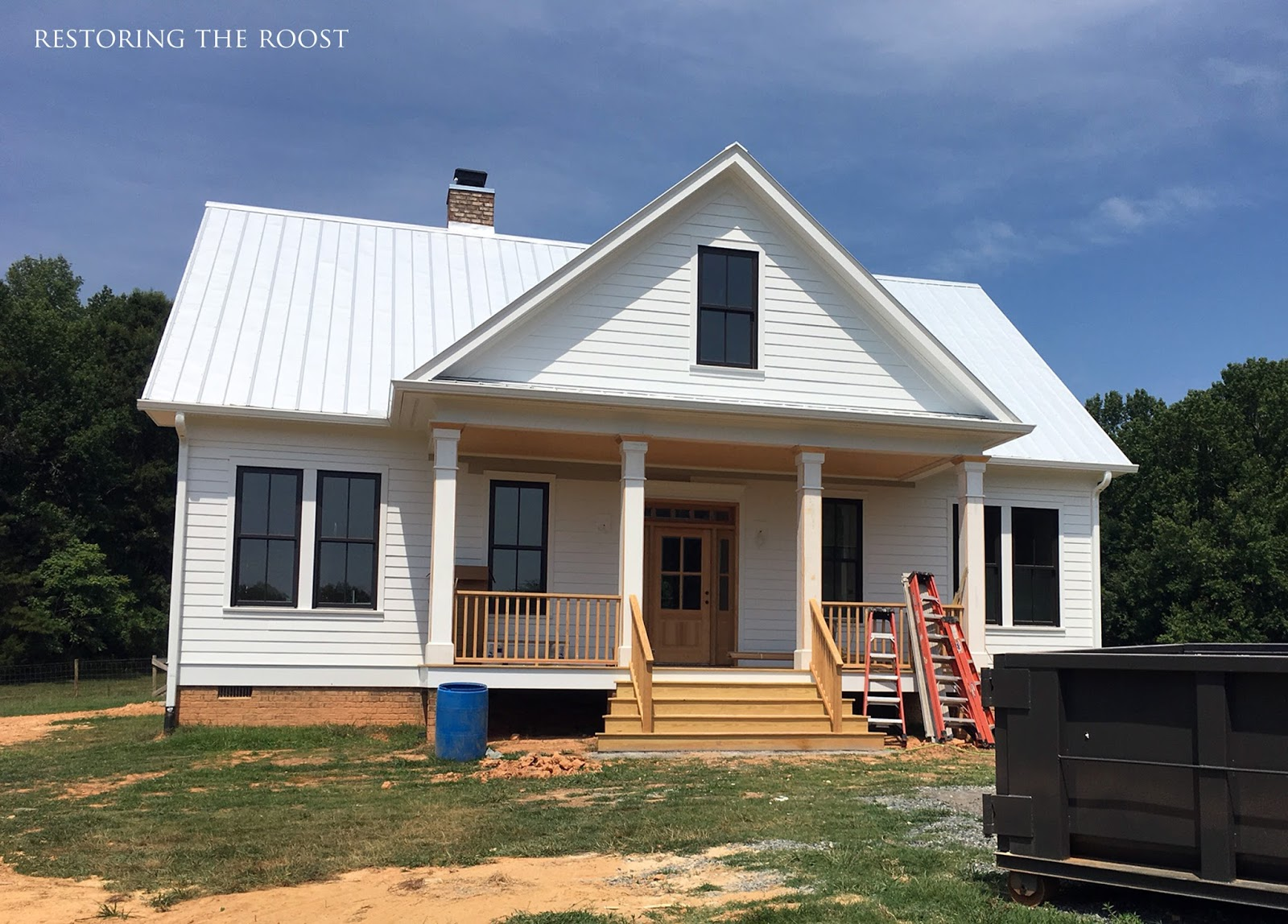 Restoring the roost how we cut costs in our farmhouse build for Cost to build farmhouse