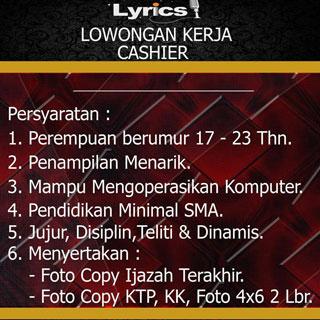 Lyrics Karaoke Daya Makassar Butuh Cashier