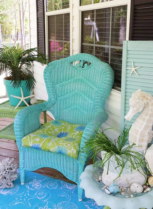 Coastal Front Porch Seating Ideas