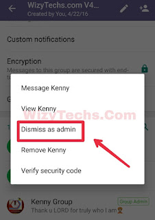 Remove whatsapp admin