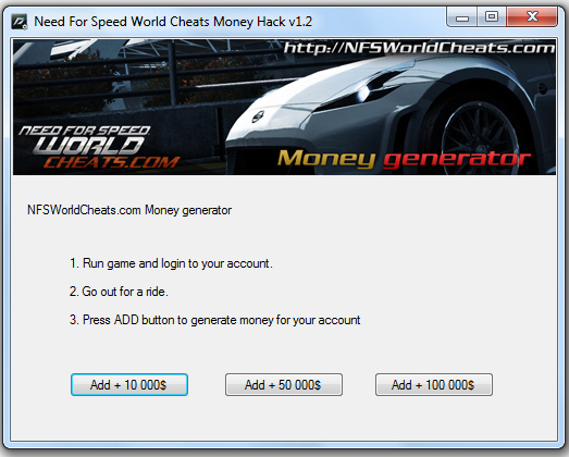 Hack de plazas nfs world