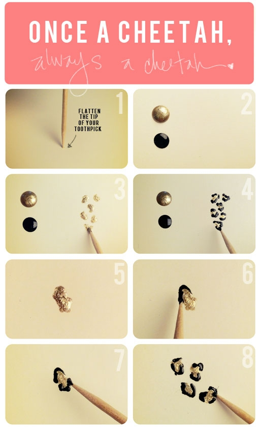 Diy Leopard Nail Art Tutorial