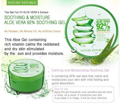 shooting & moisture alove vera 92% shooting gel