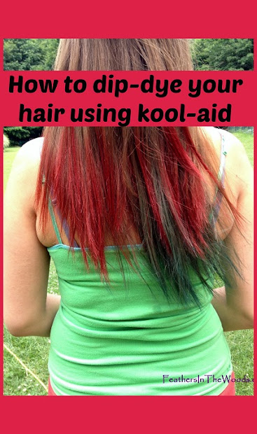dip dyed kool-aid hair - feathers