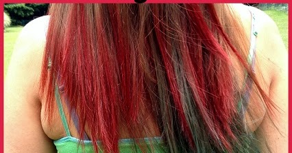 Dip dyed Kool-aid hair - Feathers in the woods