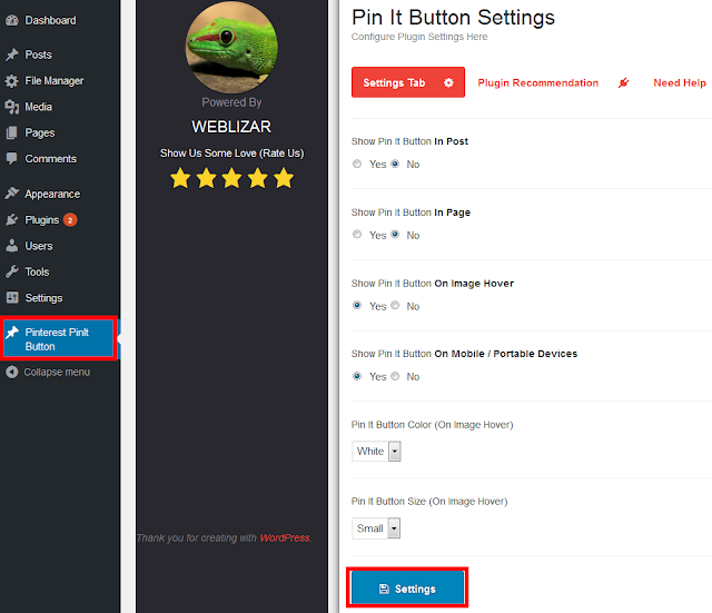 How to Add a Pinterest Pin It Button in WordPress Images and Posts