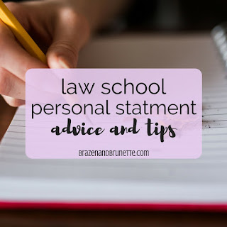 1Ls reveal what they wish they would've known when writing their personal statement for law school applications. What to say in your law school personal statement. Law school personal statement advice | brazenandbrunette.com