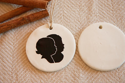 DIY Silhouette Clay Christmas Ornament