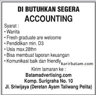 Lowongan Kerja CV. Batam Advertising