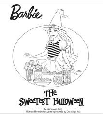 Barbie Halloween Coloring Pages For Kids 3