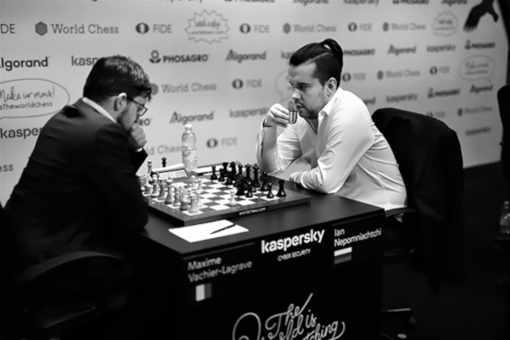 Le Français Maxime Vachier-Lagrave, n°4 mondial des échecs, battu par le Russe Ian Nepomniachtchi - Photo © Niki Riga