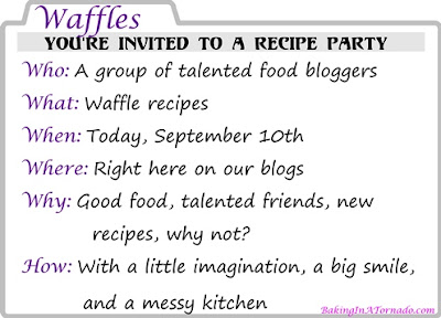 It's all About the Waffle: A number of bloggers each developed a new waffle recipe | www.BakingInATornado.com | #MyGraphics