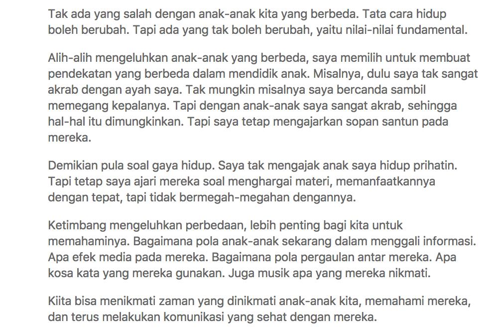 Orang Tua Indonesia Lebih Suka Liat Anaknya Kawin Dari Pada Bahagia