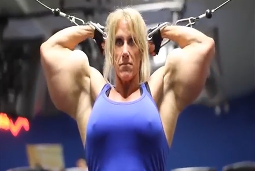 Video Female Bodybuilder Huge Biceps, magnificently muscular...AND simply awesome in every way