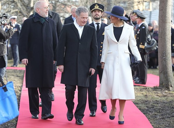 Crown Princess Victoria, Prince Carl Philip of Sweden and Finlands president Sauli Niinistö attended a memorial service for Swedish Volunteer Corps