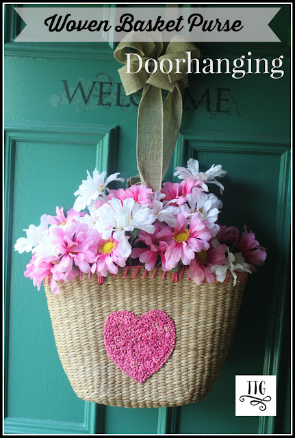 How to make a woven basket purse doorhanging at thethriftygroove.com
