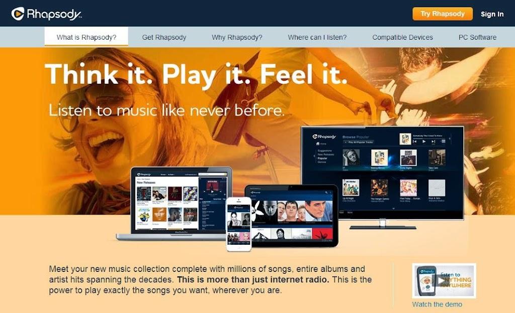 力抗Spotify、Deezer,老牌音樂串流廠商Rhapsody收購新創公司
