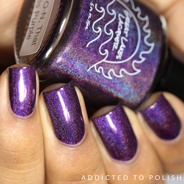 Great Lakes Lacquer M-O-O-N, That Spells Purple Make Your Stand collection