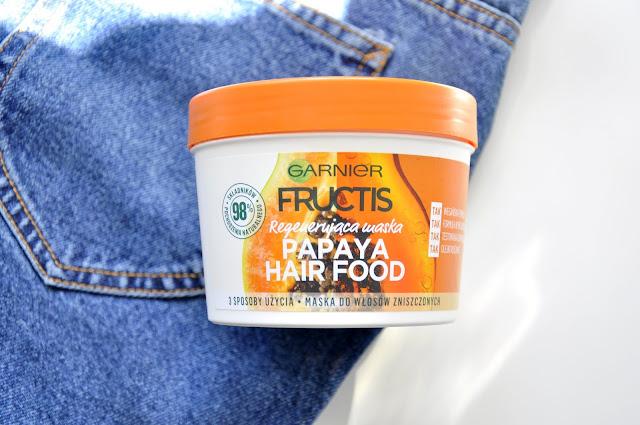 maska do włosów garnier fructis papaya hair food