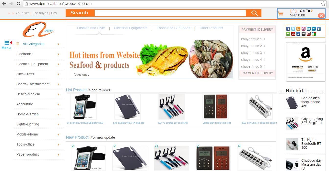 Mẫu website tin tức chuyên nghiệp giá siêu rẻ từ google blogspot