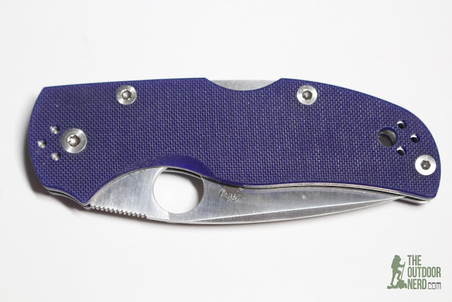 "Spyderco Native 5 S110V ""Blurple"" G10 Pocket Knife - Product View 8"