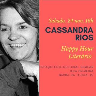 24 nov, 16h: Happy Hour Literário - Cassandra Rios