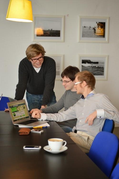 Das UniCoach-Team bei der Arbeit