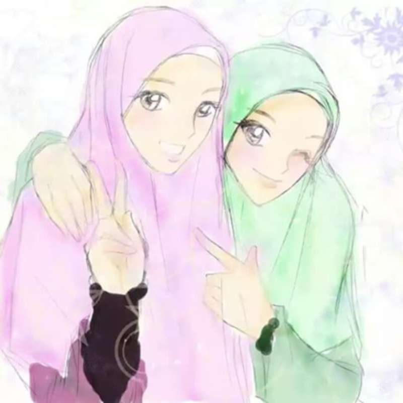 Gambar Kartun Sahabat Muslimah Dan Muslim  15 gambar kartun muslim dan muslimah romantis