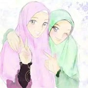 59+ Gambar Kartun Muslimah 2 Orang Sahabat