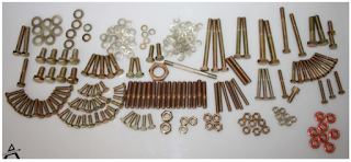 Nuts and bolts set for engine 1502,1602,1802,2002 carburator models 265 pcs all yellow zinc plated