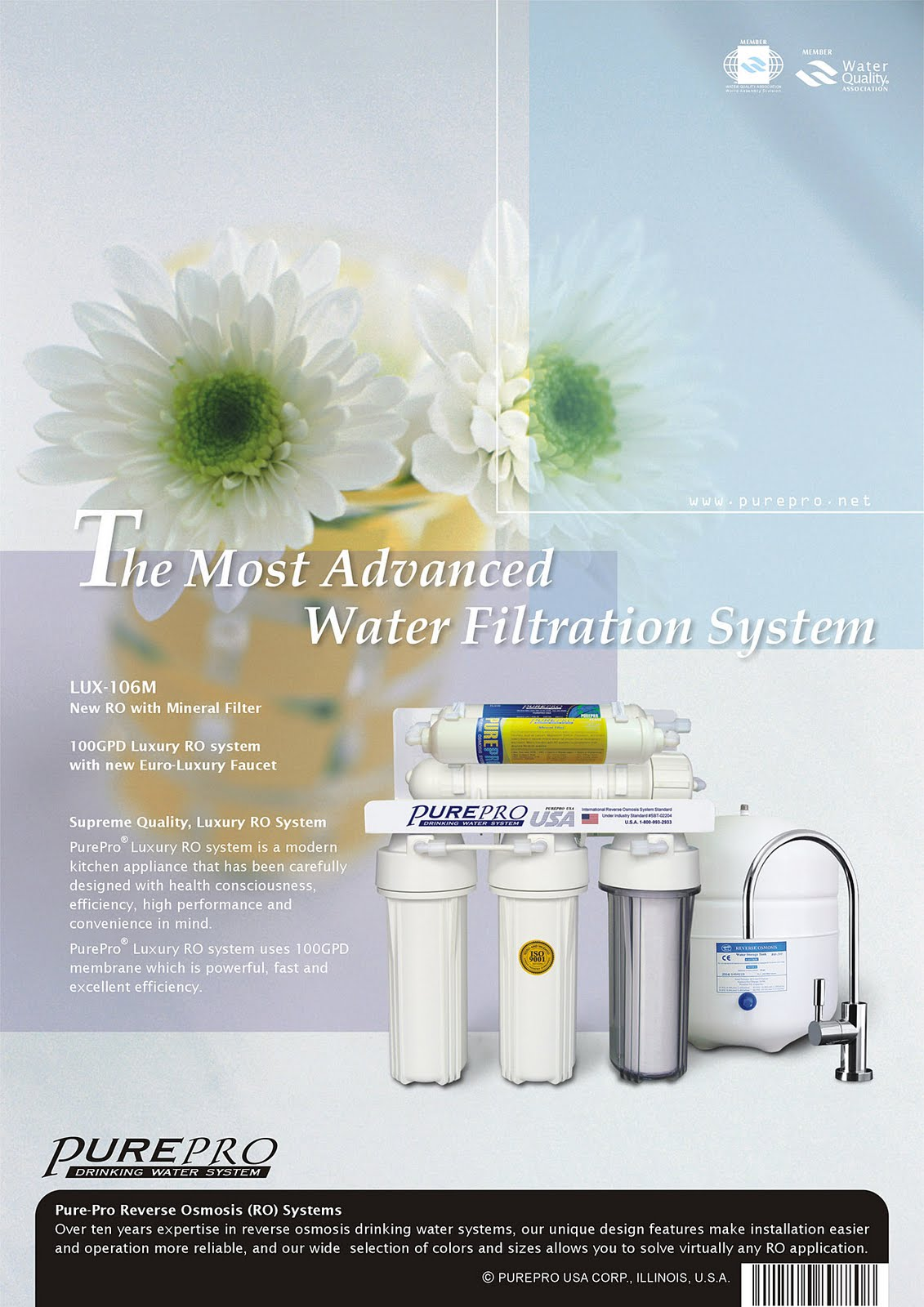 PurePro® LUX-106M Reverse Osmosis Water Filter System