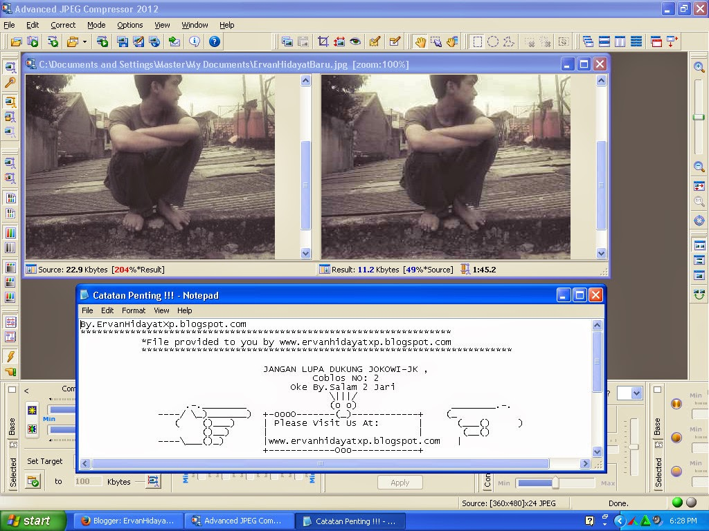 ErvanHidayatXp Download Advanced JPEG Compressor 2012