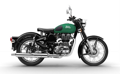 New Royal Enfild classic 350 Redditch Green side profile picture