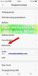 Cara melacak Hp VIVO V9 yang hilang