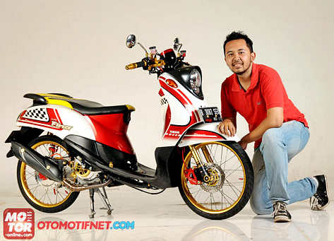 Modifikasi Motor Mio FIno Beraliran Thai Look