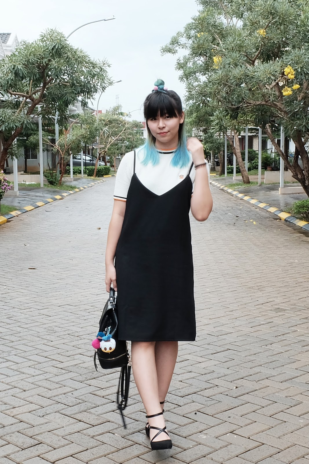 how to wear a black slip dress blog | www.bigdreamerblog.com