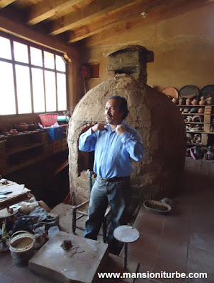 Nicolas Fabian at his workshop in Santa Fe de la Laguna