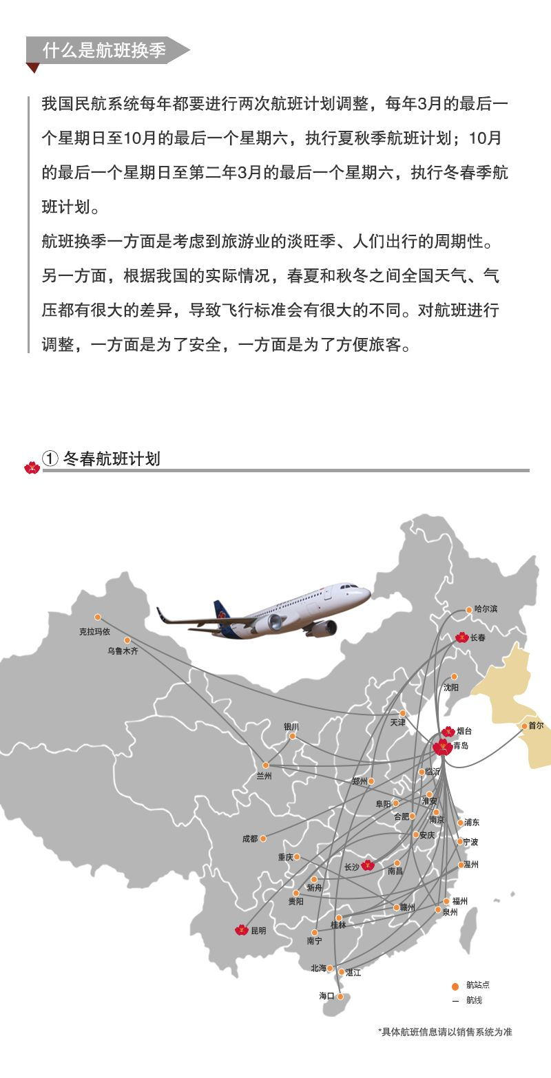 qingdao airlines winter flight schedule 2018 2019 route map