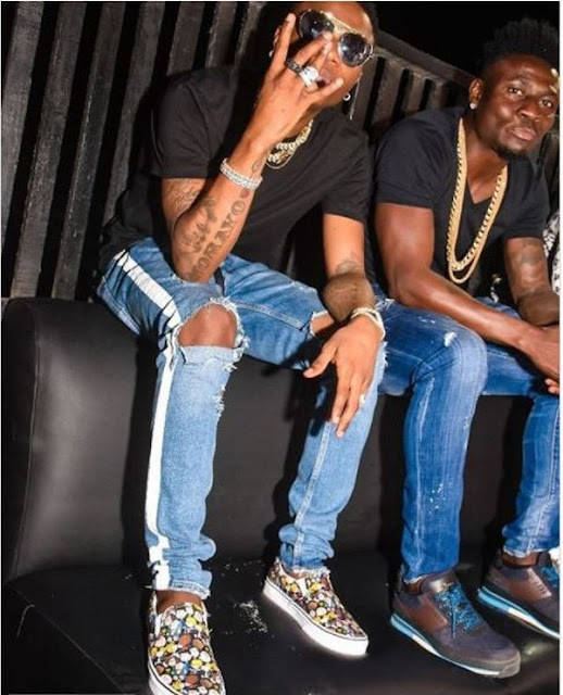 Wizkid And Obafemi Martins Spotted Partying Together In Lagos (PHOTO)