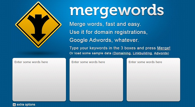 mergewords homepage