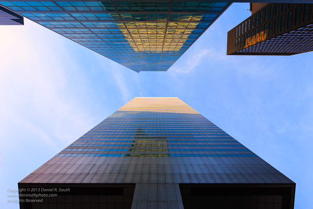 a photo of geometric skyscrapers in new york city daniel south photography