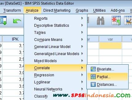 Langkah-Langkah Uji Korelasi Parsial dengan SPSS