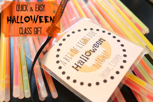 Easy, Fast Halloween Class Gifts