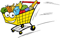 Maxi, cie, cart, character, grocery, grocery cart, cartoon, identity, illustration