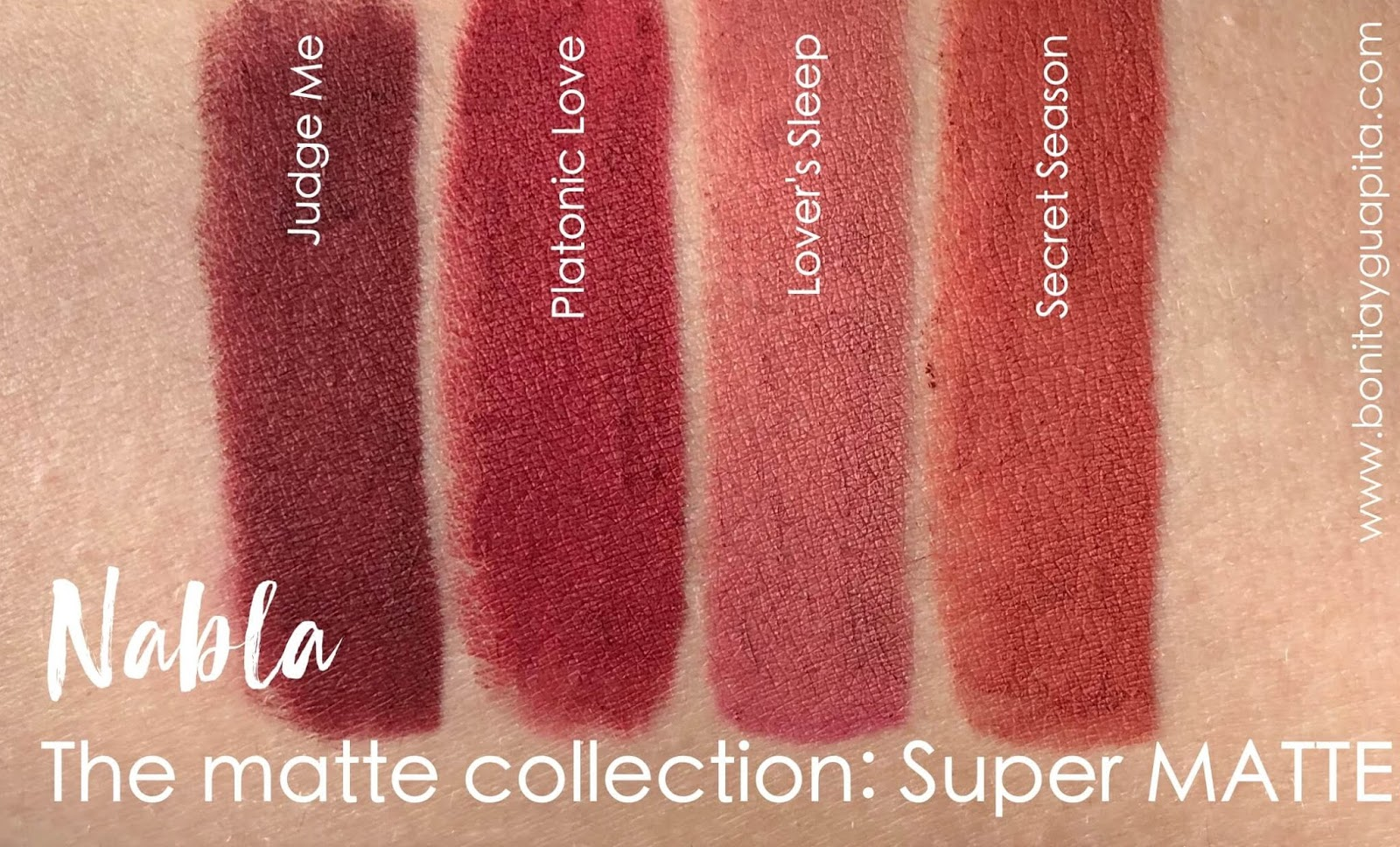 nabla super matte swatches