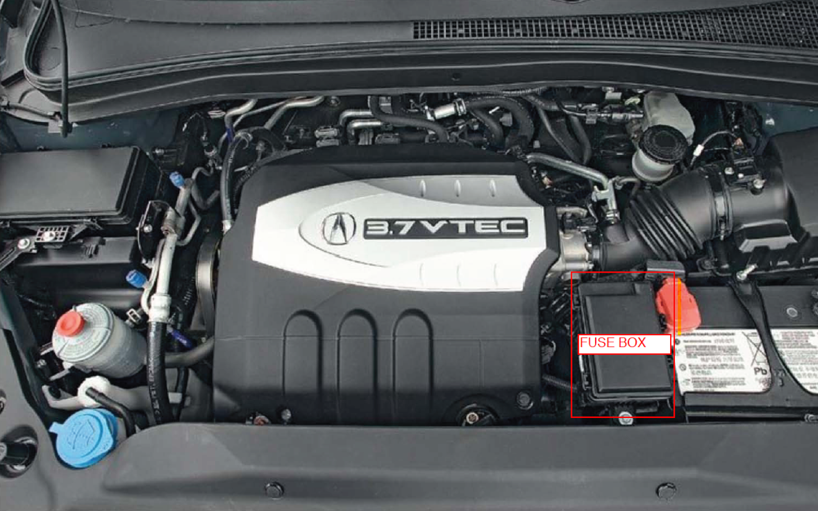 hight resolution of 2007 mdx engine fuse box identified in red