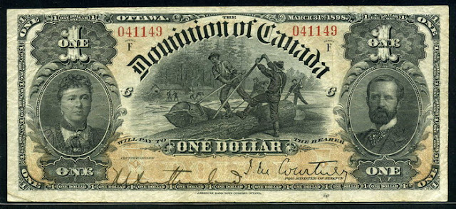 Dominion of Canada banknotes Dollar bill currency